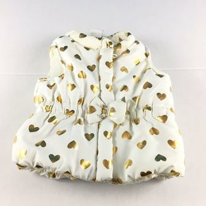 Infant Baby Puffer Vest Size 3-6 Months Cream/Gold